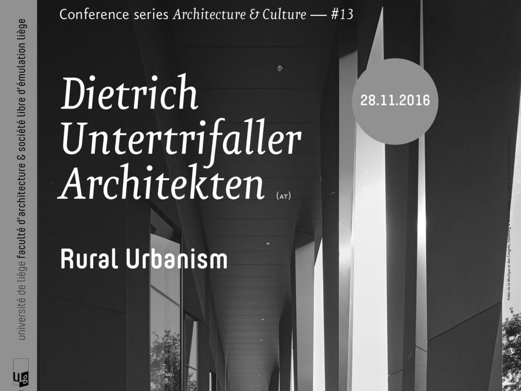 Vortrag: 28.11.16, Rural Urbanism, Liège