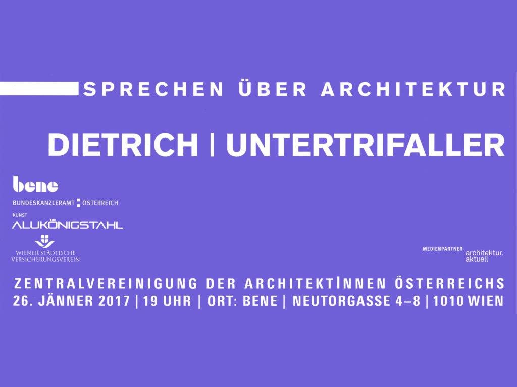 Vortrag: 26.1.17, Sprechen über Architektur, Wien