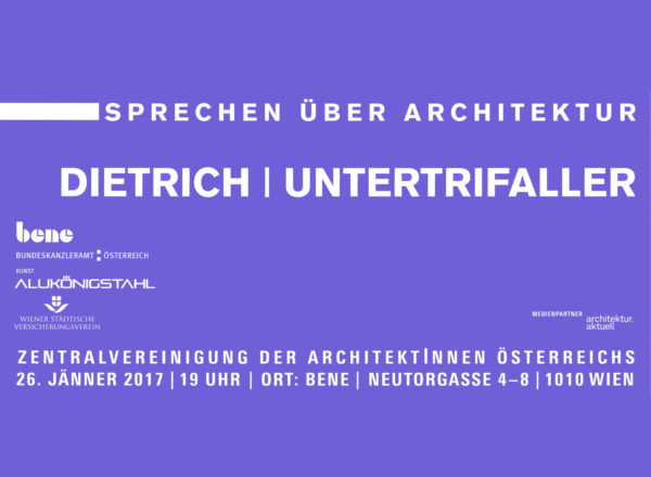 Lecture: 26.1.17, Talking about architecture, Vienna
