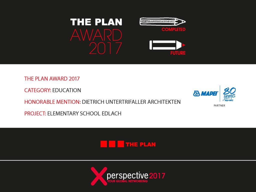 3 prizewinners: The Plan Award 2017