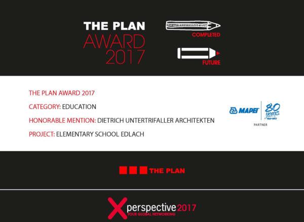 3 Preisträger: The Plan Award 2017