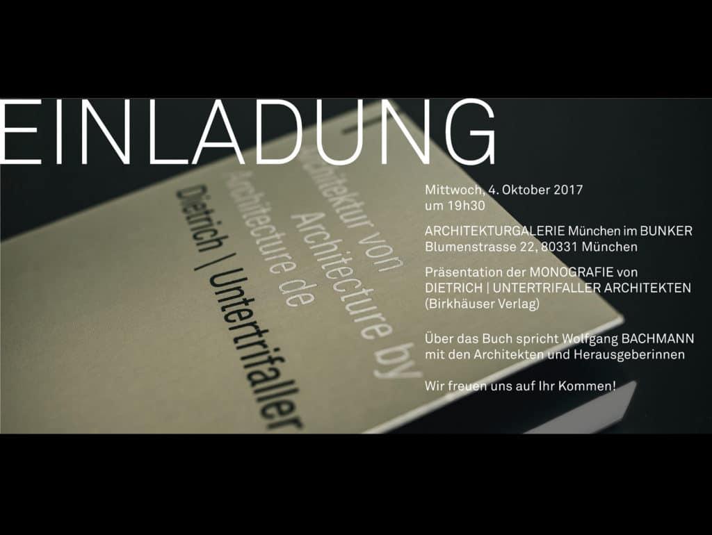 Buchpräsentation: München, 4.10.2017
