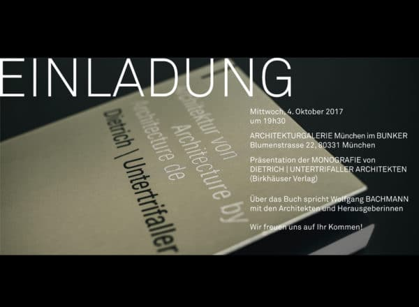 Book presentation: Munich, 4.10.17