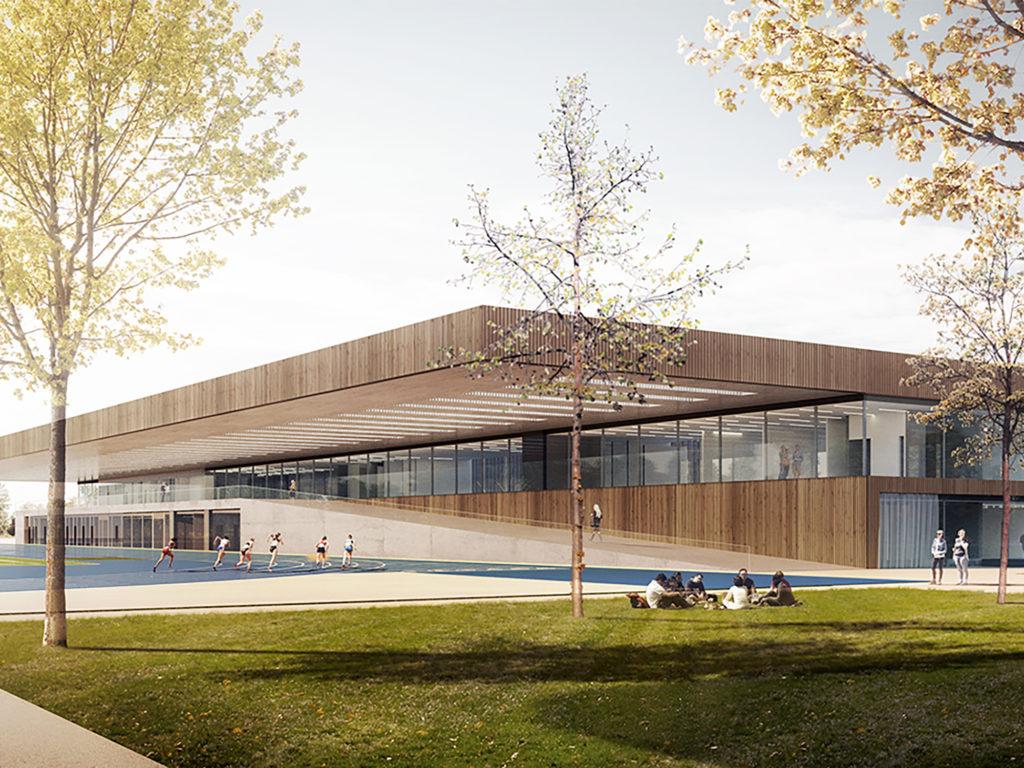 sportcampus im olympiapark m nchen de dietrich untertrifaller architekten. Black Bedroom Furniture Sets. Home Design Ideas