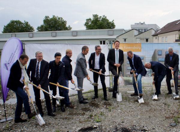 Ground-breaking ceremony : KUP Parkstraße, Ravensburg