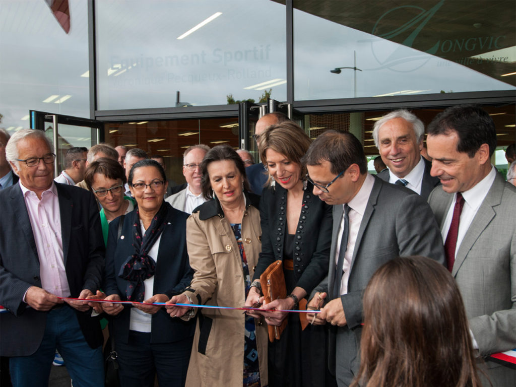 Eröffnung: Sportzentrum in Longvic