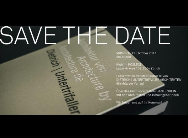 Book presentation: Zurich, 11.10.17
