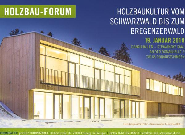 Vortrag: 19.1.2018, Dimensionen in Holz, Donaueschingen