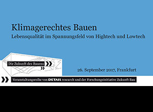 "Lecture: 26.9.17, ""The Future of Building"", Frankfurt"