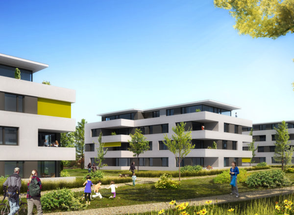 Topping-out ceremony: Residential Bernrain Ost, Kreuzlingen (CH)