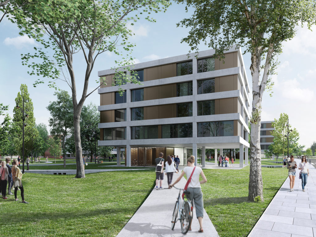 "Won: Competition ""Student Residence, École Polytechnique Campus"" in Palaiseau, France"