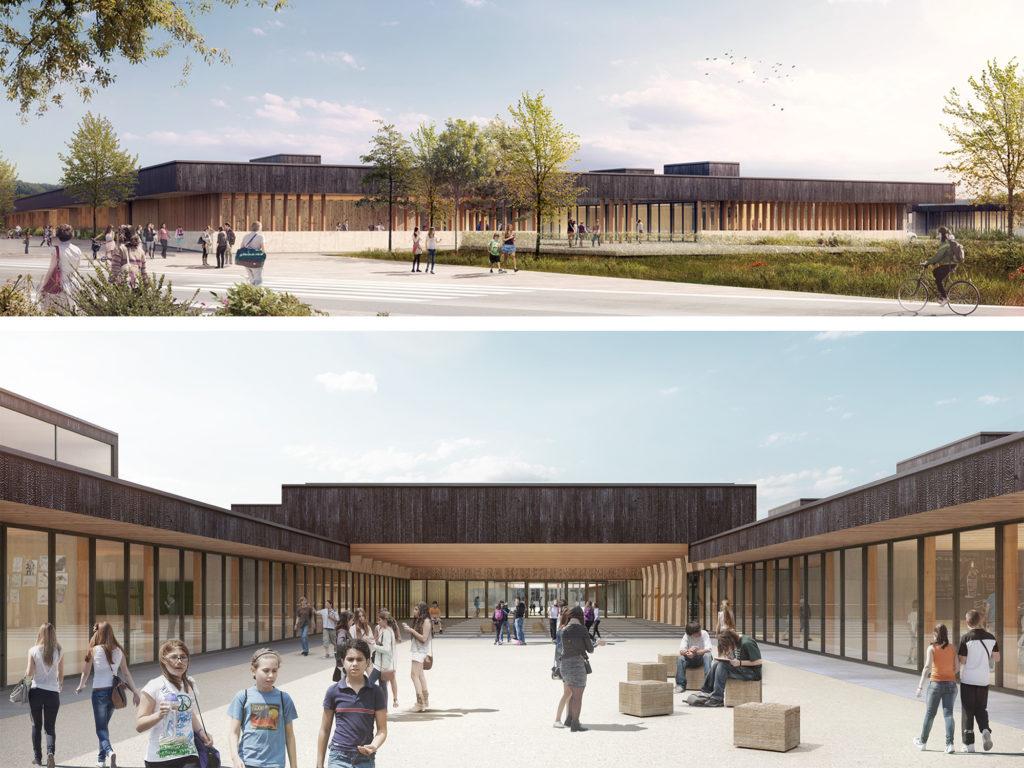 """Gewonnen: Wettbewerb """"Neubau des Collège Bretenoux"""", Frankreich"""