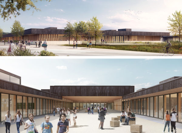 "Won: Competition ""Construction of Bretenoux' middle school"", France"
