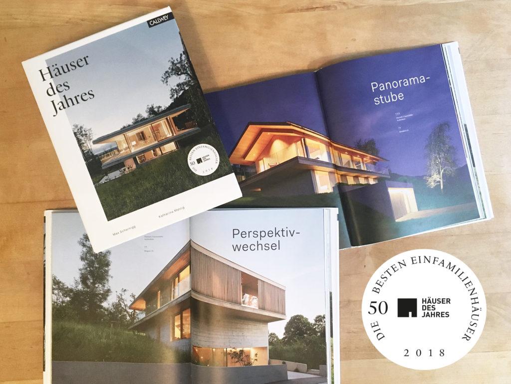 "Out now: Buch ""Häuser des Jahres 2018"" – unser Haus D Bregenz am Cover!"