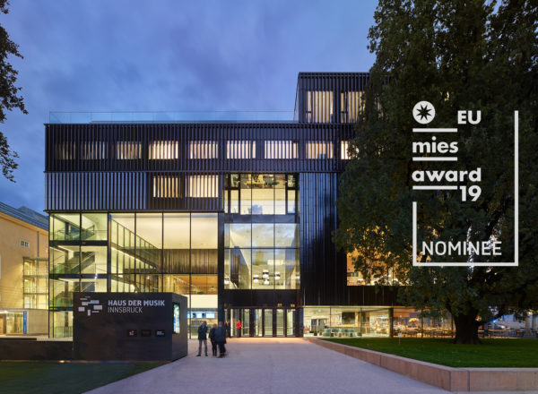 EU Mies Award 2019 – Haus der Musik Innsbruck nominated