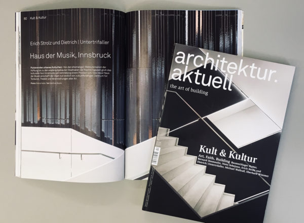 Featured: Architektur Aktuell 12/2018 with Haus der Musik Innsbruck