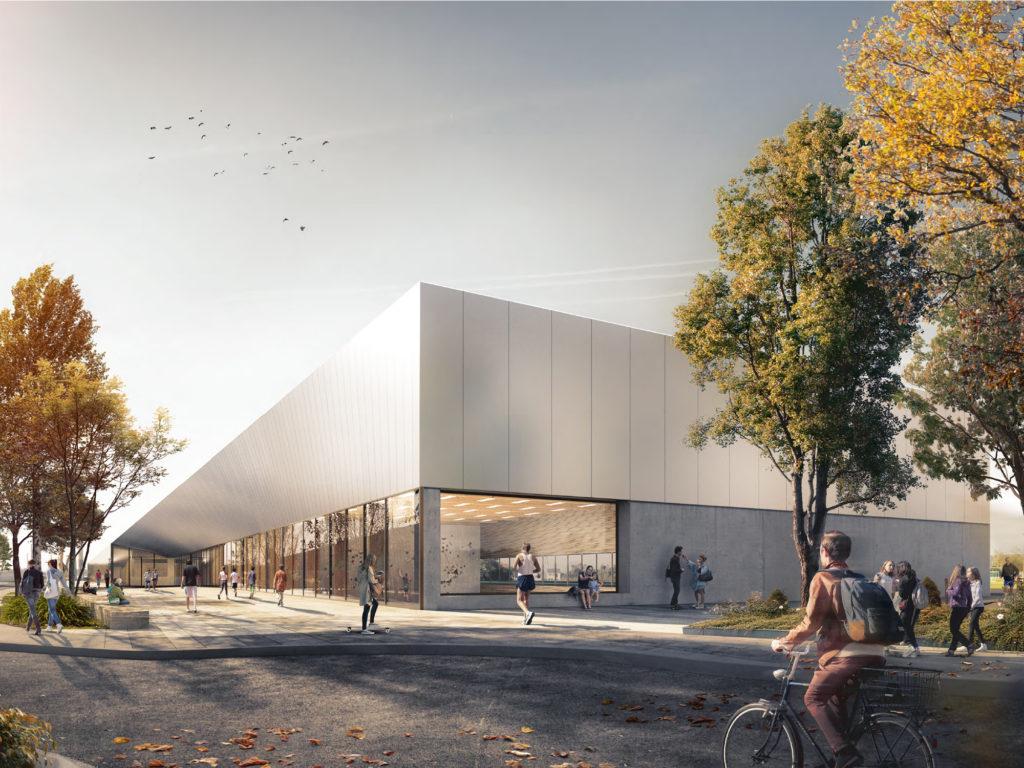 Gewonnen: Wettbewerb Sportzentrum Îlots Sud in Cormeilles-en-Parisis, Frankreich