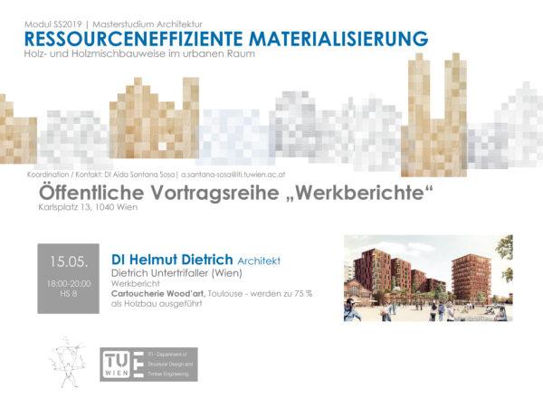 Vortrag: 15.5.2019, Werkbericht, TU Wien