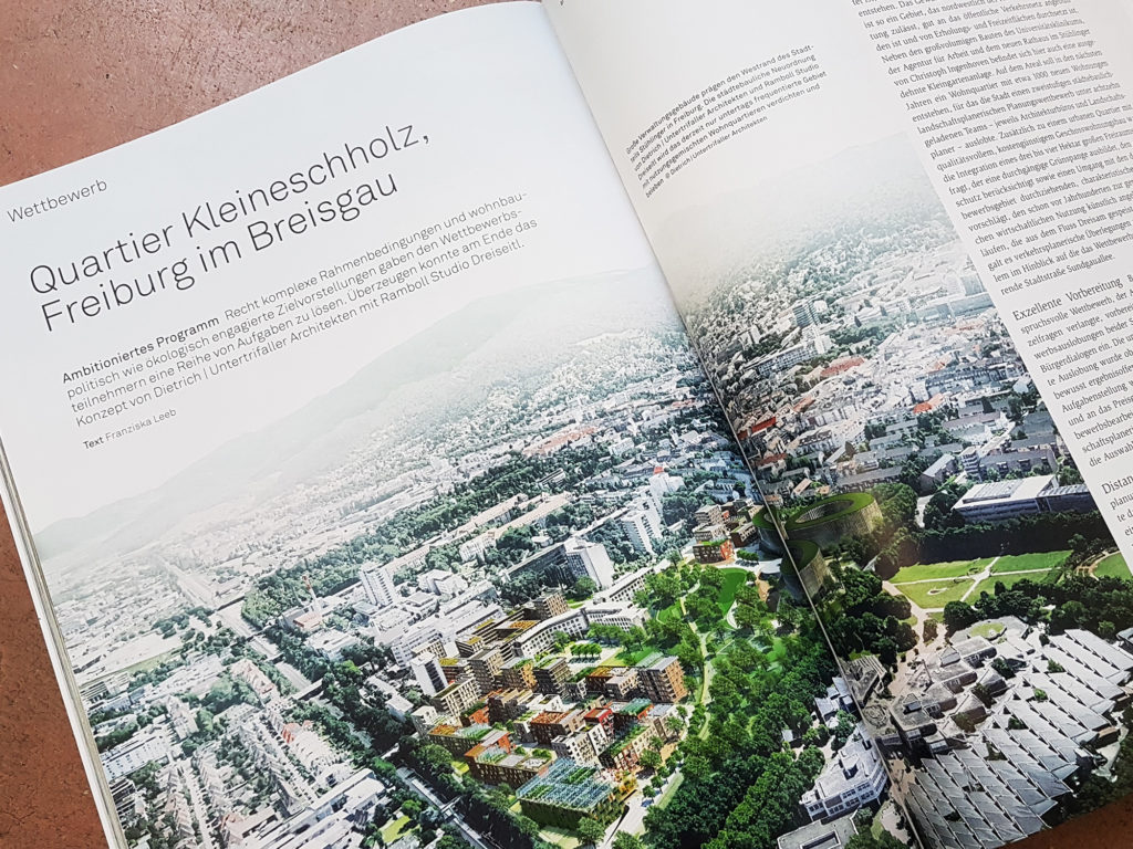 Presse: Architektur Aktuell Bericht über Quartier Kleineschholz in Freiburg, Deutschland