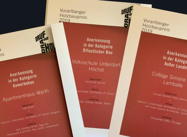 Auszeichnung: Vorarlberger Holzbaupreis 2019 für 3 Projekte