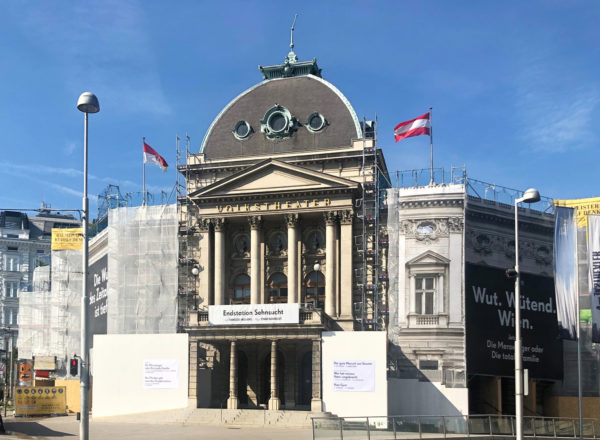 Started: Facade renovation of the Volkstheater Vienna