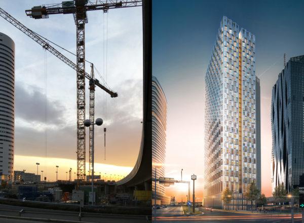 Vom Dunkel ins Licht: DC3 Tower wächst bald in die Höhe