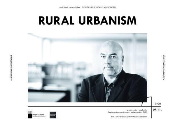 Lecture: 7.11.2019, rural urbanism in Ljubljana