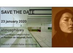 Lecture: 23.1.2020, atmosphéres in Paris