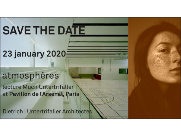 Lecture: 23.1.2020, atmosphéres in Paris