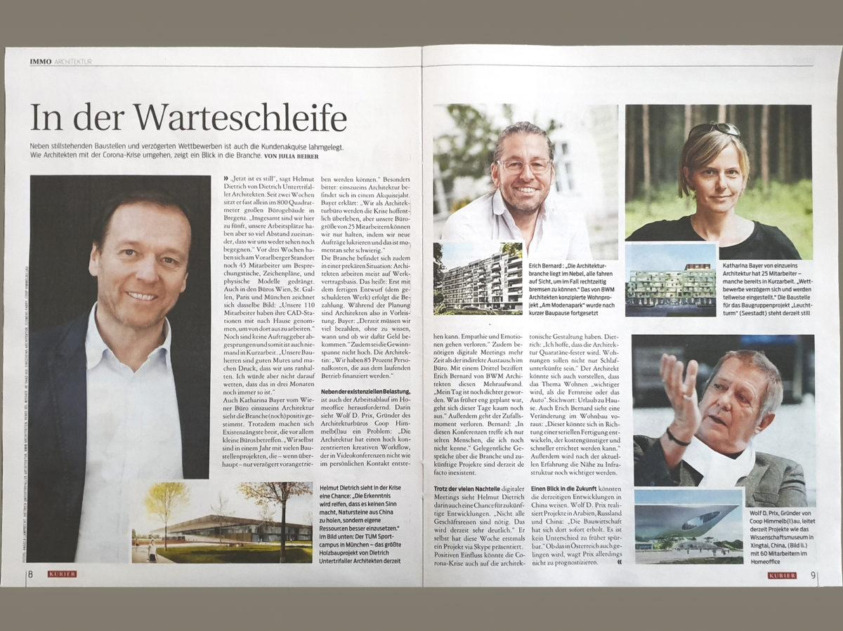 Presse: Interview mit Helmut Dietrich zur Corona-Krise
