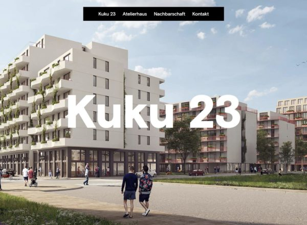 Online: Website Kuku23.at – Vergabe der Ateliers ab Juli