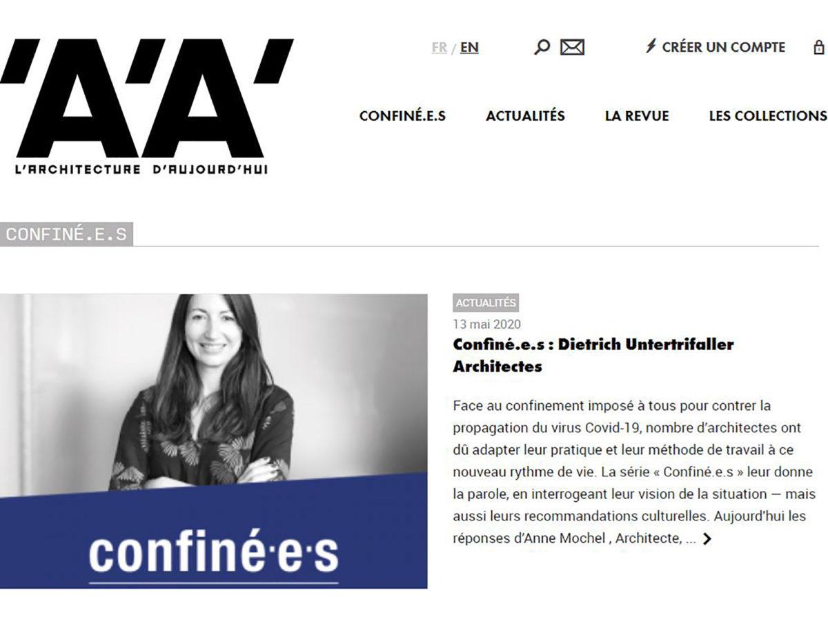 Presse : L'interview « Confiné.e.s » d'Anne Mochel, directrice d'agence Paris, pour 'A'A'