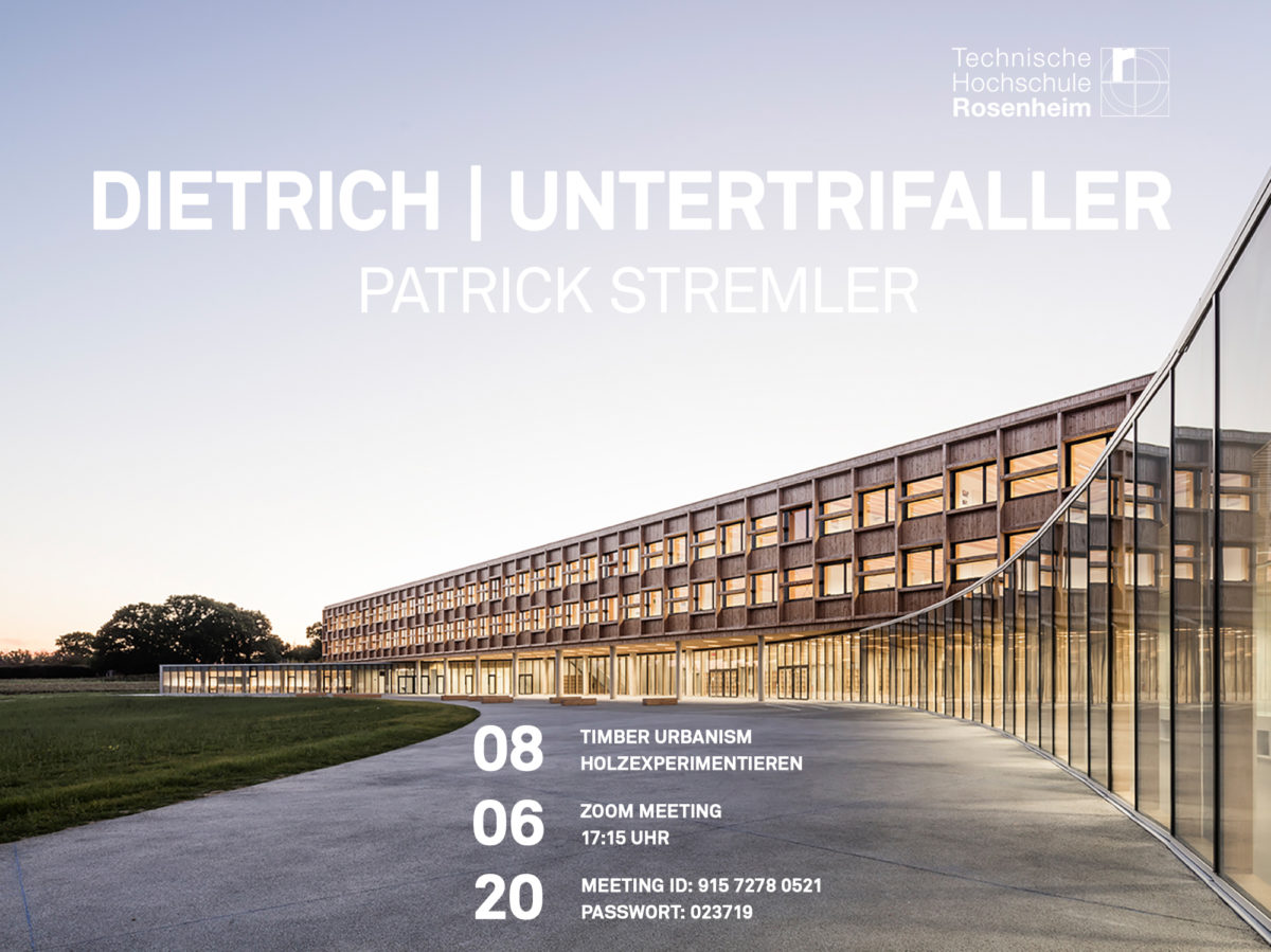 Vortrag: 8.6.2020, Timber Urbanism, TH Rosenheim
