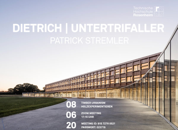 Lecture: 8.6.2020, Timber Urbanism, TH Rosenheim
